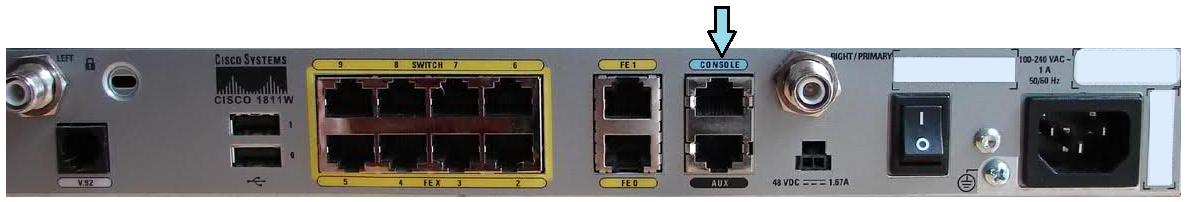Cisco 1811W Router - Console Port