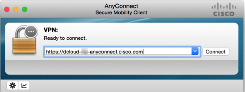 Connect Laptop to dCloud Session Using Cisco AnyConnect VPN