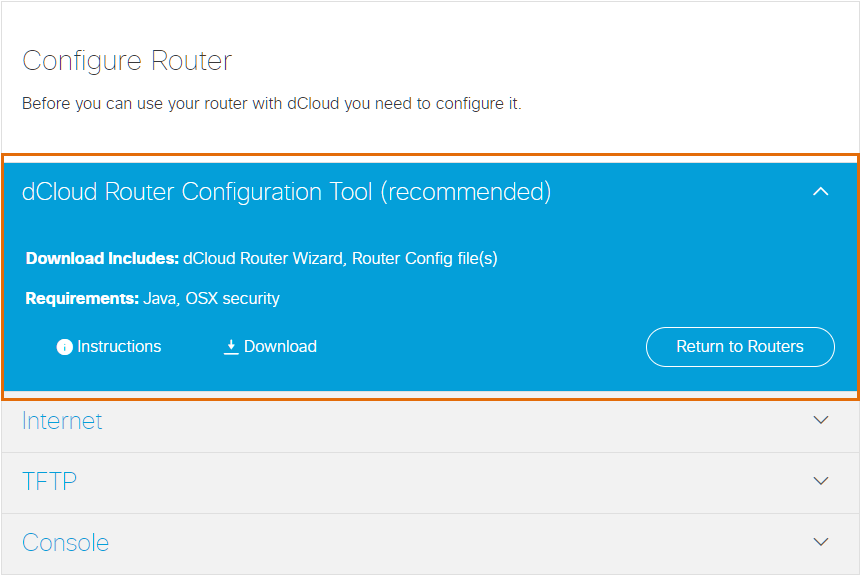 Add Router to dCloud and Download Files for Configuration | Help