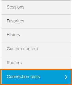 Connection Tests