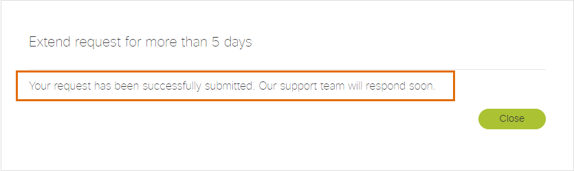 Extend Session Longer Than 5 Days Confirmation