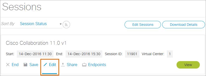Edit Session Details
