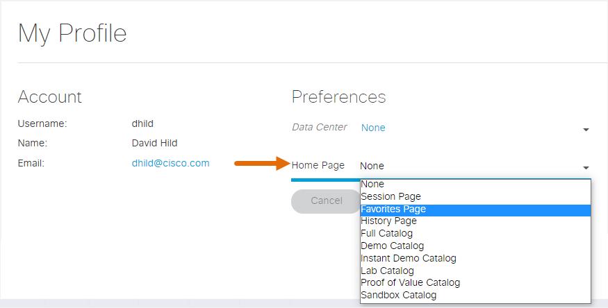 Set home page preference 3